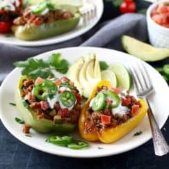 Southwest Turkey Stuffed Peppers