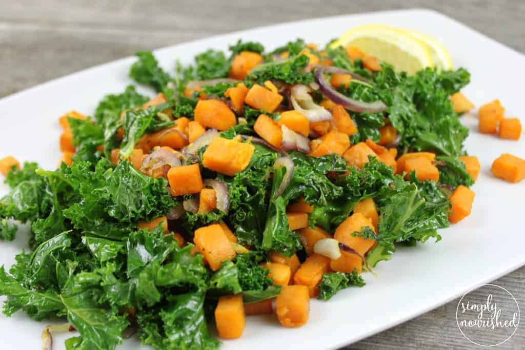 Kale And Sweet Potato Saut 233 The Real Food Dietitians