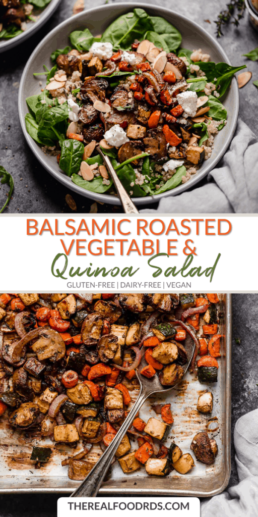 Long Pin Image for Balsamic Roasted Vegetable & Quinoa Salad