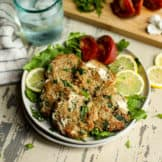Quinoa Spinach Turkey Burgers with Goat Cheese