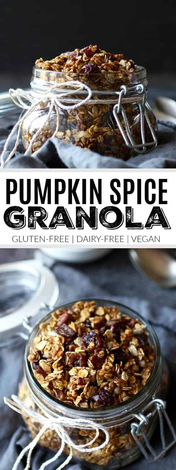 Pinterest image for Pumpkin Spice Granola