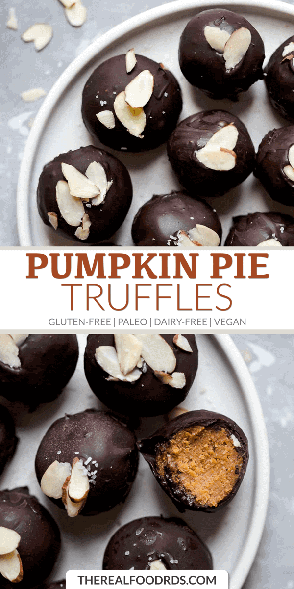Longer Pin Image for Pumpkin Pie Truffles