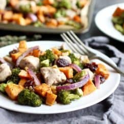 One-Pan Sweet Potato Broccoli Chicken Bake