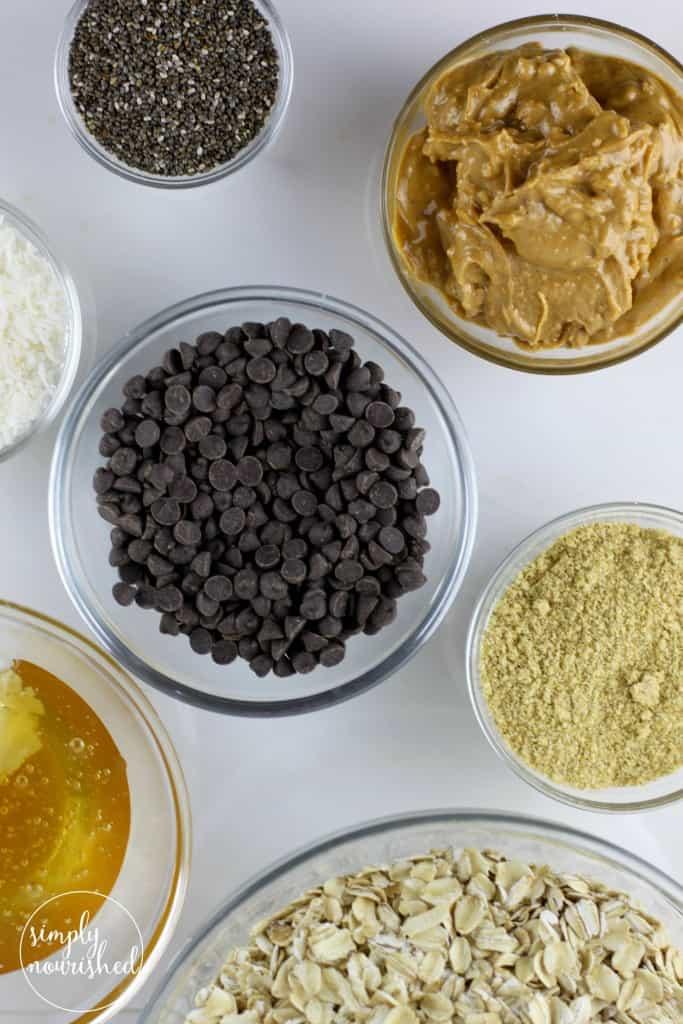 Peanut Butter Chocolate Chip Energy Bites | Gluten-free, Dairy-free, Vegan, Kid-friendly |