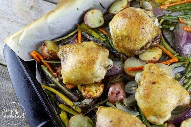 One Pan Roasted Chicken And Vegetables The Real Food