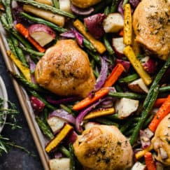 One-Pan Roasted Chicken and Vegetables