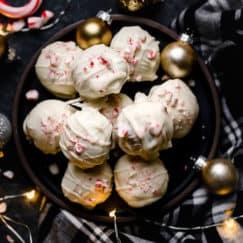Peppermint Brownie Batter Truffles