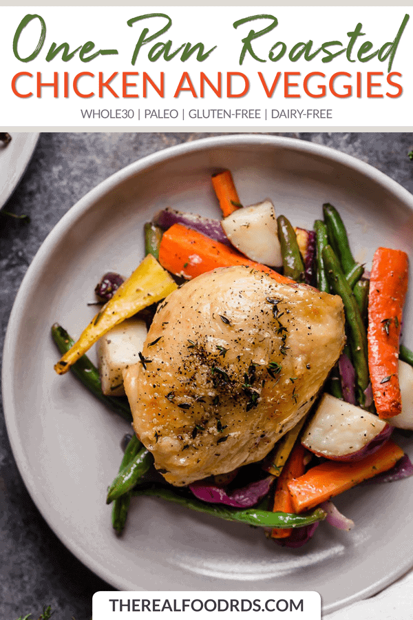 Short Pin Image for One-Pan Roasted Chicken and Veggies