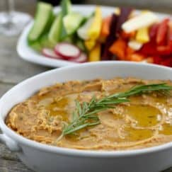 Tuscan White Bean Dip | Gluten-free, Grain-free, Vegan | http://simplynourishedrecipes.com/tuscan-white-bean-dip/