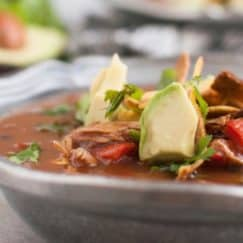 Warm-up with this Chicken Tortilla Soup | gluten-free | http://simplynourishedrecipes.com/chicken-tortilla-soup/