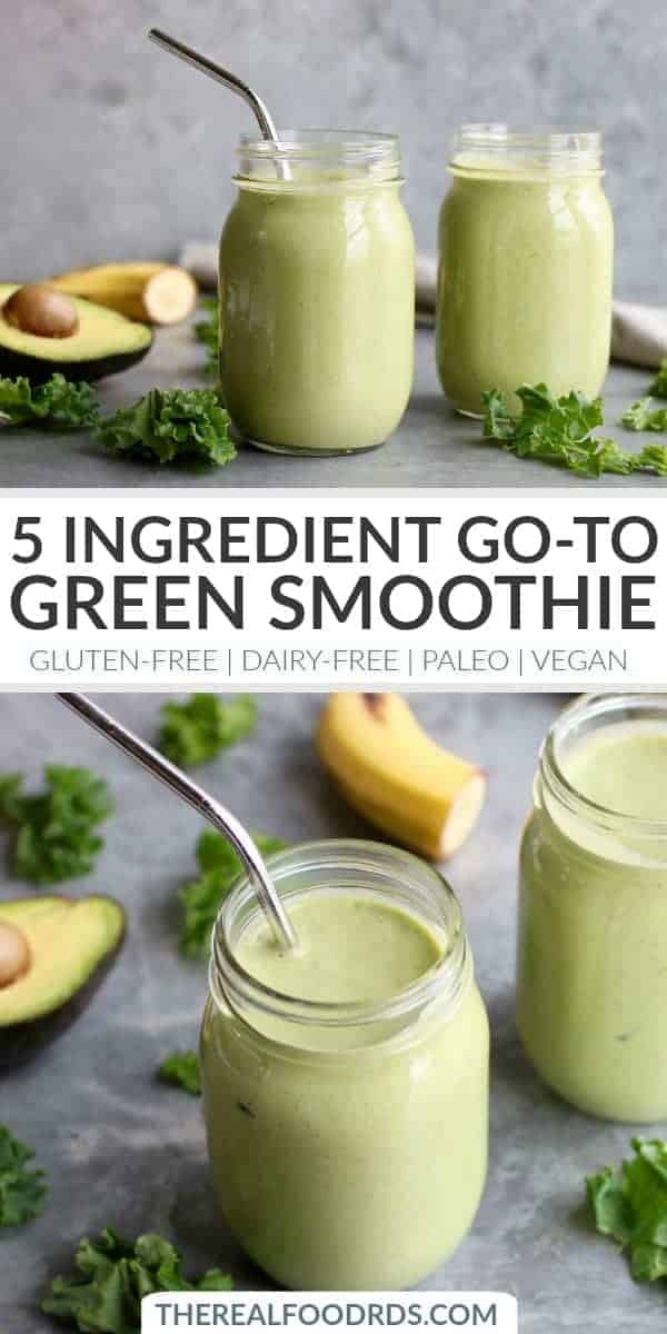Pinterest image for Five-Ingredient Go-to Green Smoothie