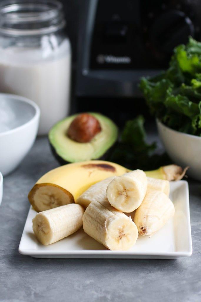 Five-Ingredient Go-to Green Smoothie ingredients