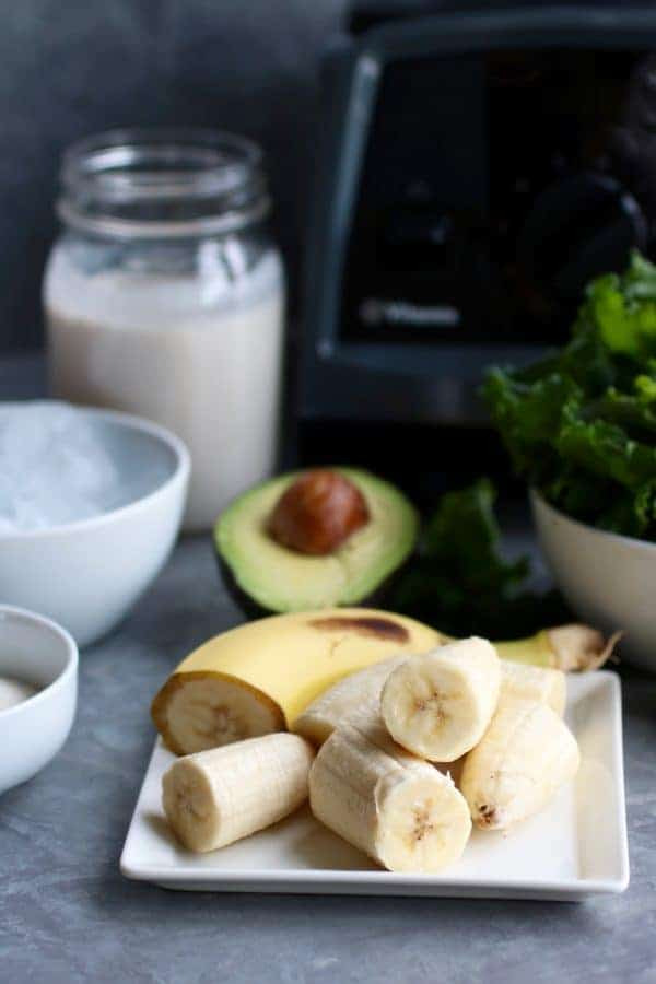 Five-Ingredient Go-to Green Smoothie ingredients