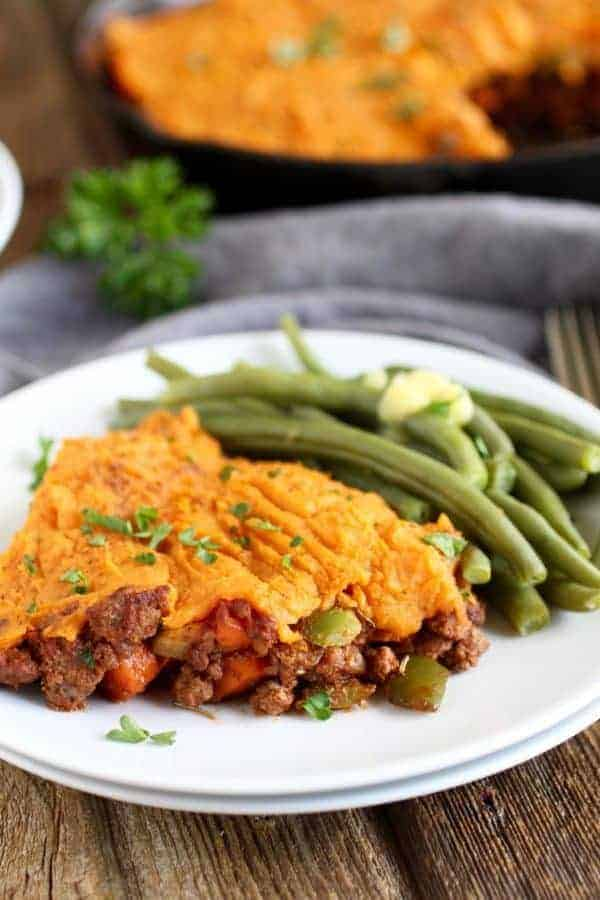 Shepherds pie with sweet potato topping the real food dietitians shepherds pie with sweet potato topping whole30 recipe ideas whole30 dinner recipes whole30 forumfinder Image collections