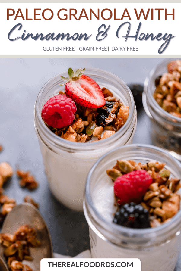 Short Pin Image for Paleo Granola with Cinnamon & Honey