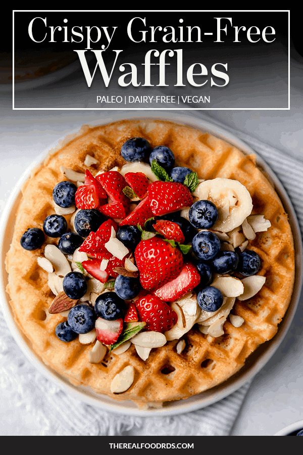 Pin image for Crispy Grain-Free Waffles