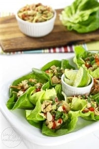 Whole30 Asian Chicken Salad Lettuce Wraps