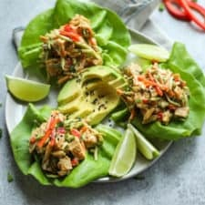 Asian Chicken Salad Lettuce Wraps