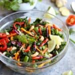 Thai Kale Salad with Cashews