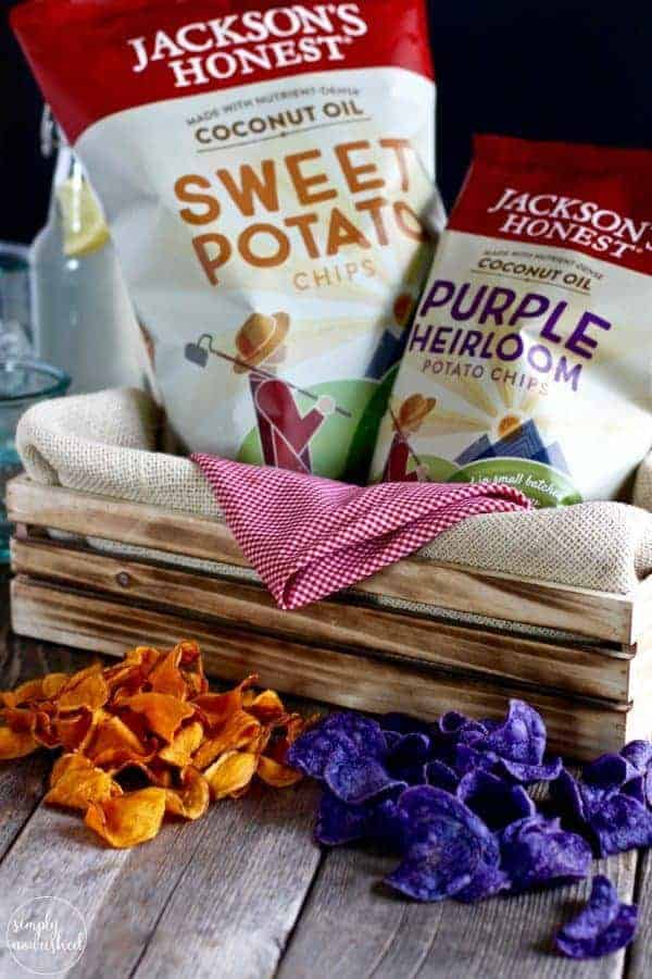 Jackson's Honest Chips: The perfect accompaniment to Bison Burger with Grilled Pineapple and Sriracha Aioli| Gluten-free, Dairy-free plus Egg-free and Paleo options | https://simpynourishedrecipes.com/bison-burger-pineapple-sriracha-aioli/