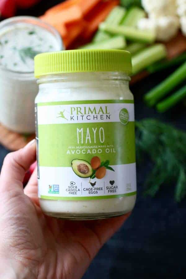 Paleo Ranch Dressing & Dip with Primal Kitchen Mayo