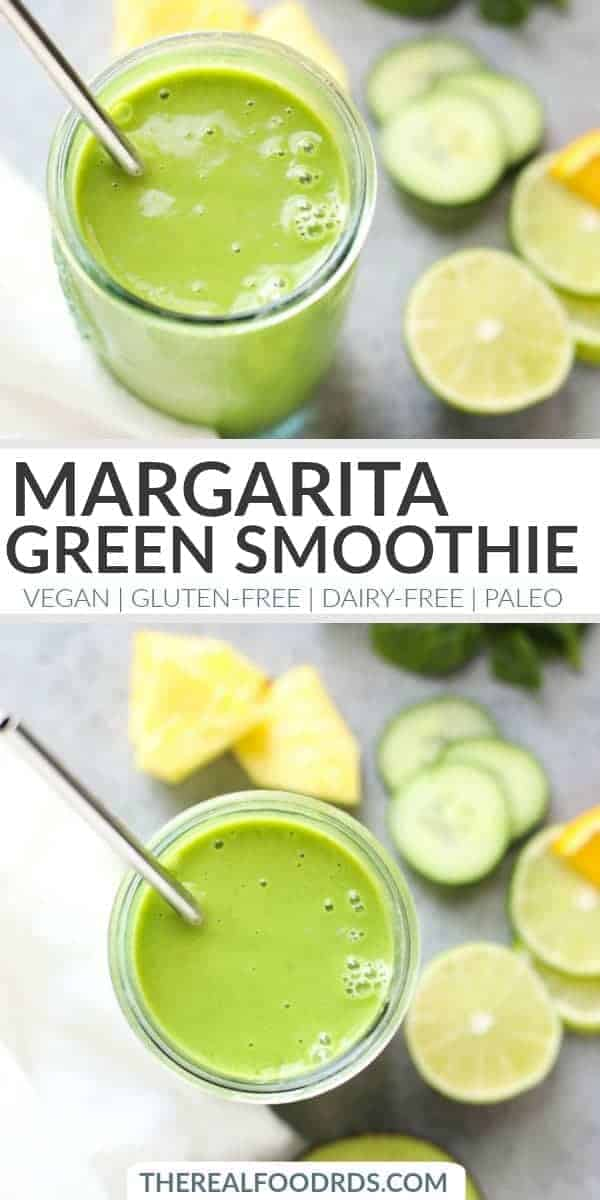 Pinterest image for Margarita Green Smoothie