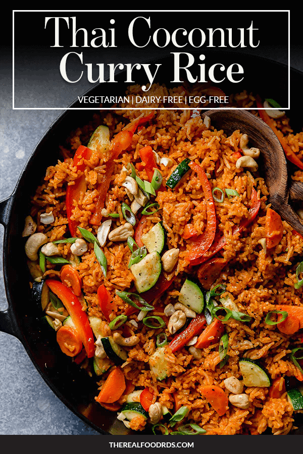 Pin image for Thai Coconut Curry Rice
