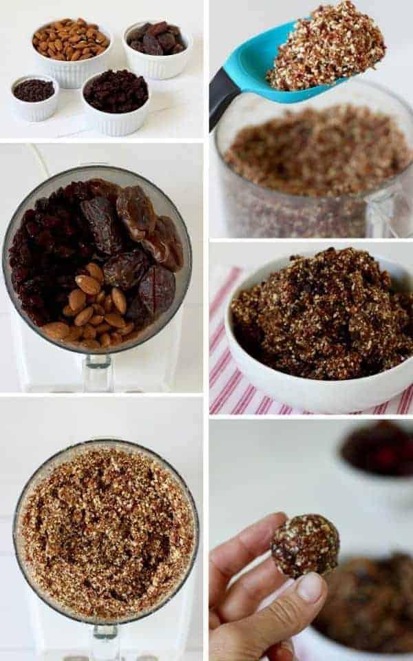 Dark Chocolate Cherry Energy Bites