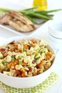 Whole30 Cauliflower Sweet Potato Salad with Bacon