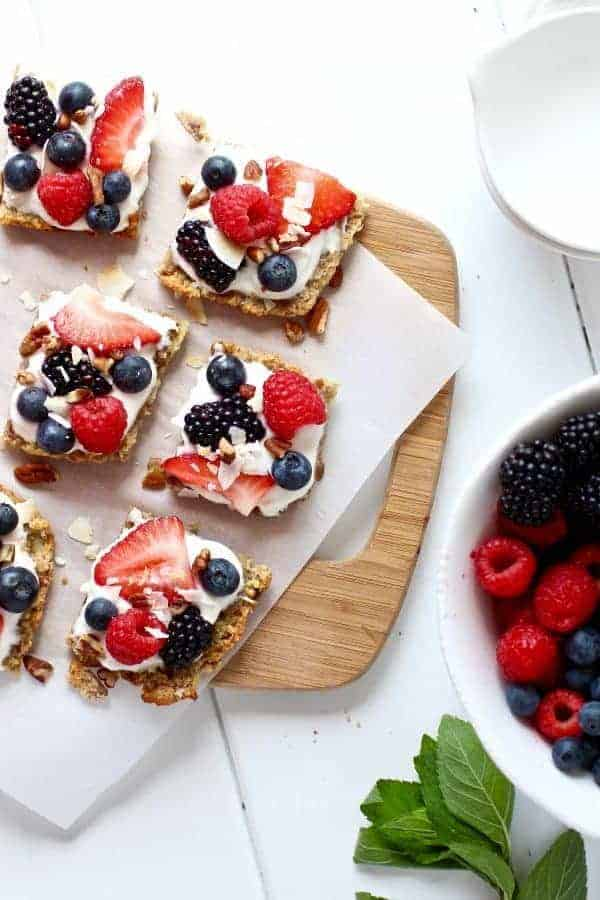 Gluten-free Berry Fruit Pizza | www.therealfoodrds.com