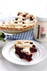 Paleo Black and Blueberry Pie   The Real Food Dietitians   https://therealfooddietitians.com/paleo-black-and-blueberry-pie/