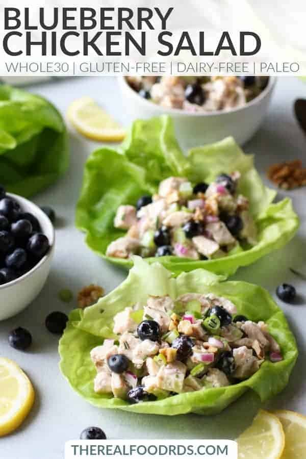 Pinterest image for Blueberry Chicken Salad