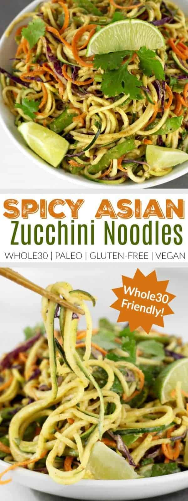 Spicy asian zucchini noodles the real food dietitians spicy asian zucchini noodles zucchini noodle recipes how to make zucchini noodles healthy forumfinder Choice Image