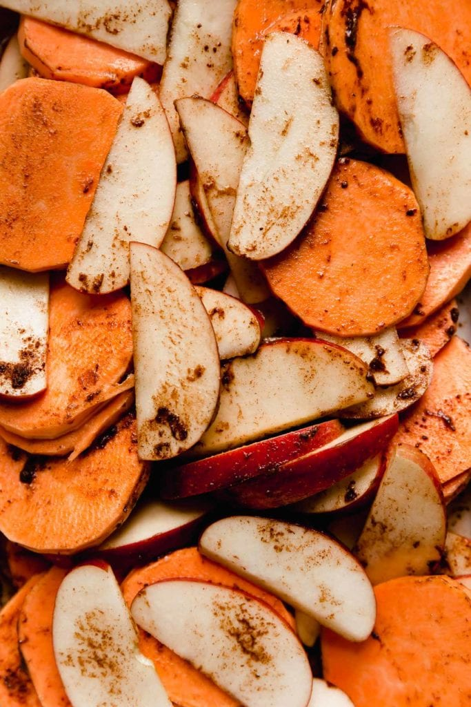 Cinnamon Apple Sweet Potato Bake