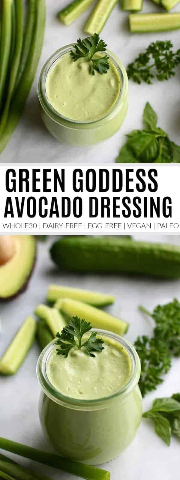 pinterest image for Green Goddess Dressing