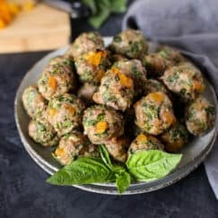 Apricot-Basil Breakfast Meatballs