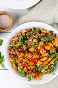 Warm Chipotle Lime Sweet Potato Salad