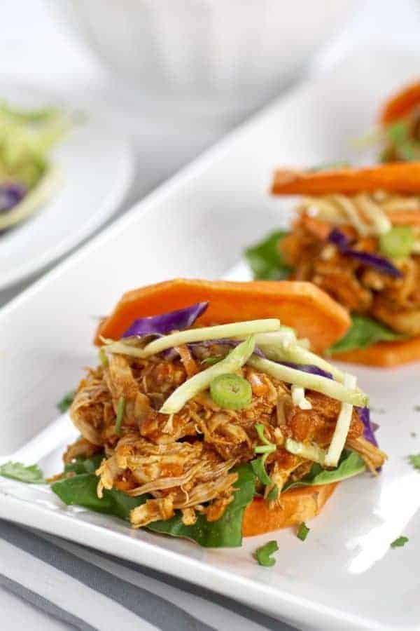 Slow cooker chicken sloppy joe sliders the real food dietitians a classic comfort food and potluck staple gets a healthy grain free makeover in these slow cooker chicken sloppy joe sliders forumfinder Image collections