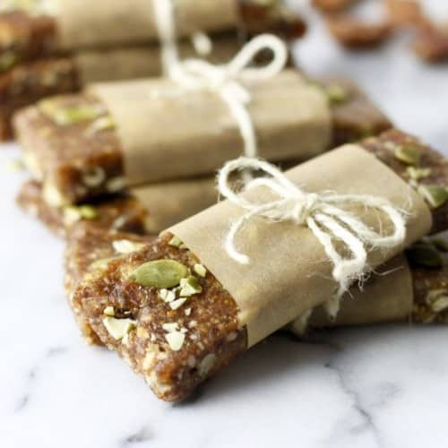 Pumpkin Spice Protein Bars | The Real Food Dietitians | https://therealfooddietitians.com/pumpkin-spice-protein-bars/