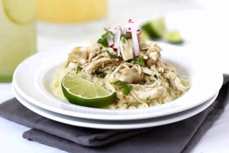 Slow Cooker Chicken Chile Verde - The Real Food Dietitians