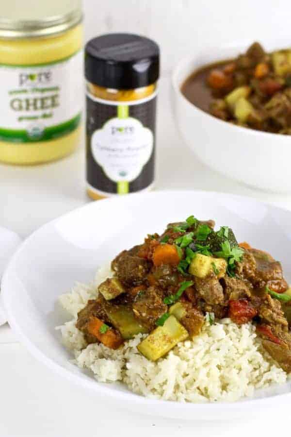 Instant Pot Lamb Curry | Whole30 dinners | whole30 lamb recipes | Paleo  dinner recipes | Gluten-free dinner recipes | healthy instant pot recipes | instant pot dinner recipes || The Real Food Dietitians #whole30dinner #healthydinner #healthyinstantpotmeal