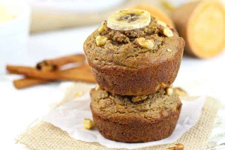 Grain free sweet potato banana nut muffins the real food dietitians fandeluxe Image collections