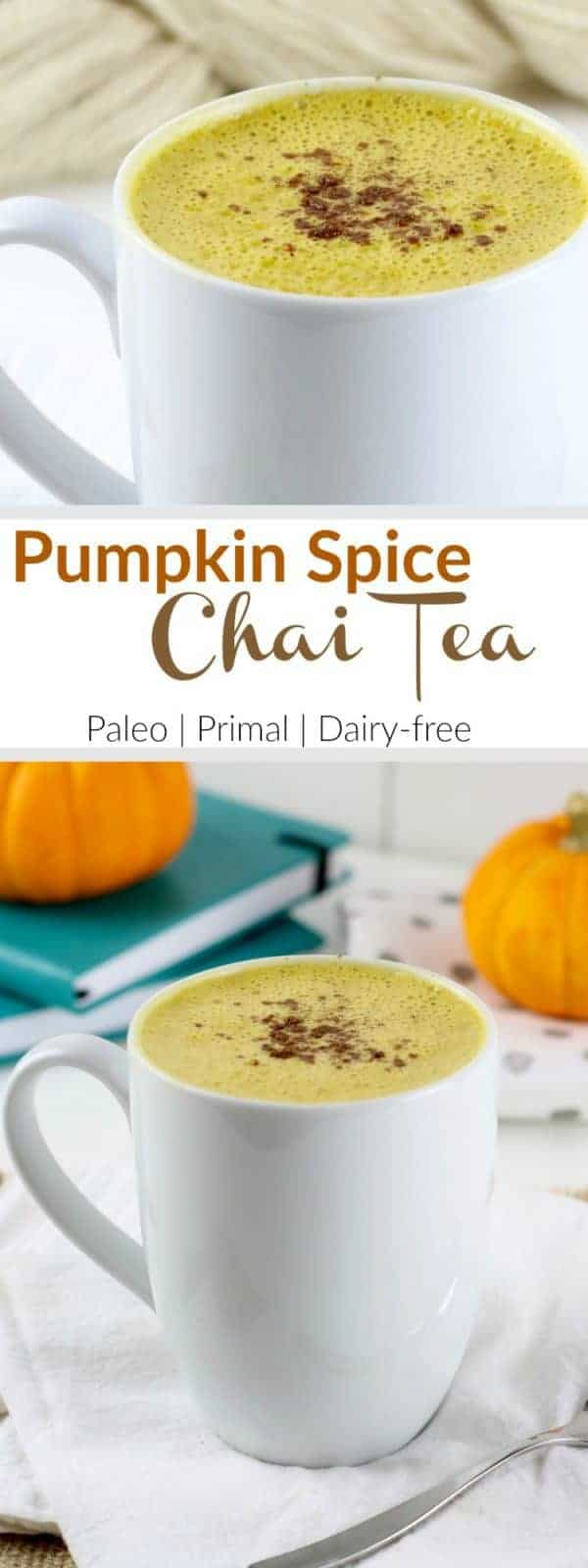 Pinterest image for Pumpkin Spice Chai Tea