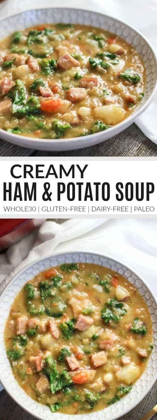 Creamy Ham and Potato Soup | Whole30 soup | Paleo soup recipe | Gluten-free soup recipe | dairy-free soup recipe | healthy soup recipe | whole30 recipes || The Real Food Dietitians #whole30soup #whole30 #glutenfreesoup #dairyfreesoup