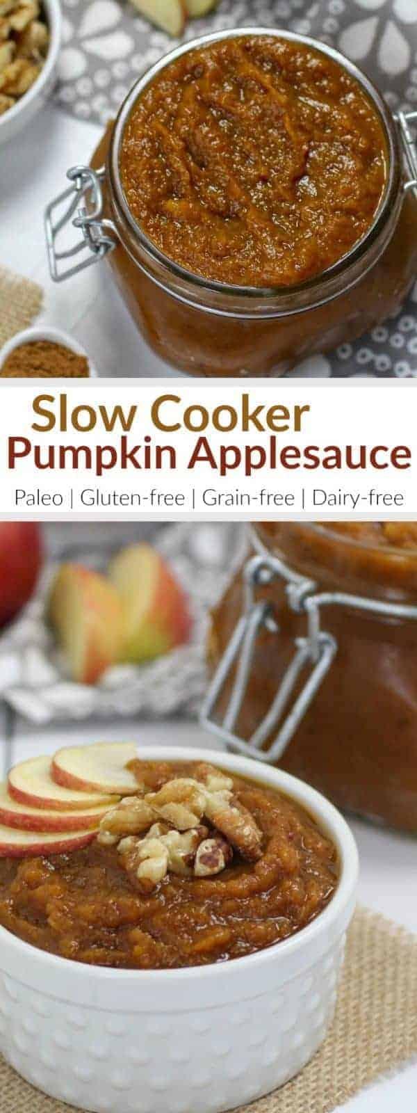 Pinterest image for Slow-Cooker Pumpkin Applesauce