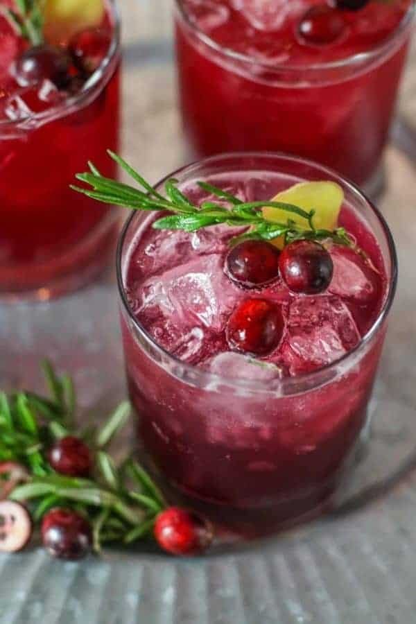 Sparkling Cranberry Kombucha Mocktail | The Real Food Dietitians | https://therealfooddietitians.com/sparkling-cranberry-kombucha-mocktail/