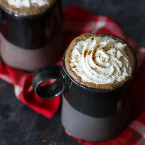 Dairy-free Gingerbread Hot Cocoa | The Real Food Dietitians | https://therealfooddietitians.com/dairy-free-gingerbread-hot-cocoa/