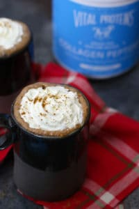 A mug of Dairy-free Gingerbread Hot cocoa