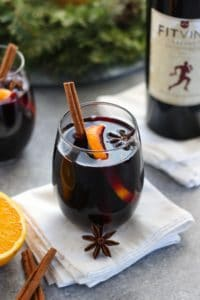 A glass of Slow Cooker Mulled Wine