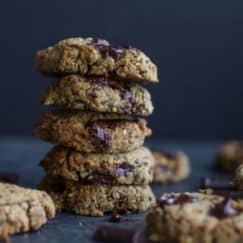 Paleo Almond Butter Chocolate Chunk Cookies